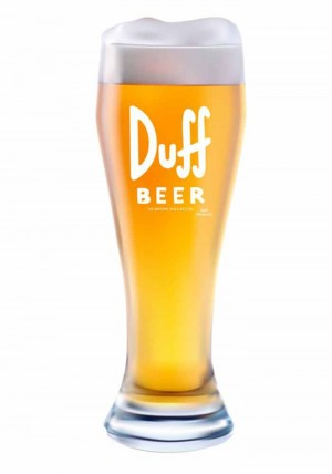 The Simpsons - Bierglas XXL Duff Beer - 2,5 Liter