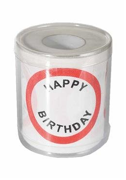 Toilettenpapier - Happy Birthday - zum Bemalen