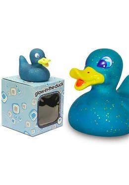 Badeente glow-in-the-duck blau