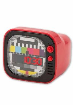 Wecker im Retro Tv Design - rot