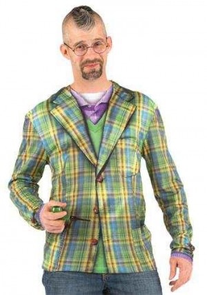 Faux Real - Plaid Sport Coat Longsleeve -XL