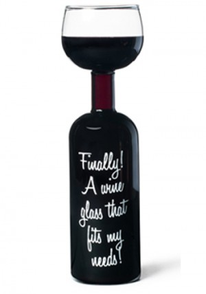 Wein Flaschen Glas - Wine Glass Bottle - 750 ml