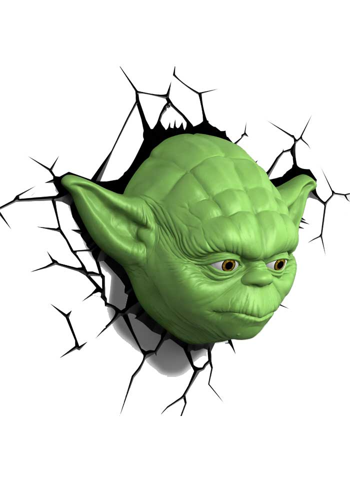 Star Wars - 3D Leuchte Yoda