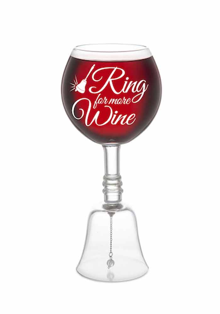 Weinglas - Glocke - ring-a-ding-ding wine glass