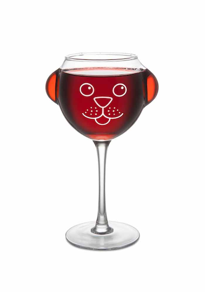 Weinglas - Hundewelpe - ruff day wine glass