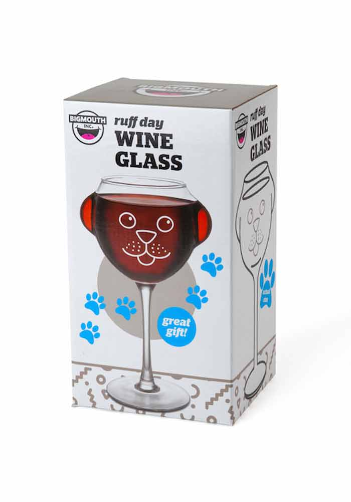 weinglas hundewelpe ruff day wine glass ebay. Black Bedroom Furniture Sets. Home Design Ideas