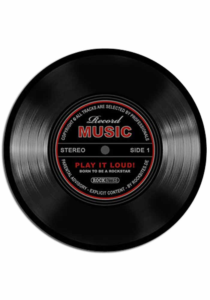 Mousepad - Record Music-schwarz