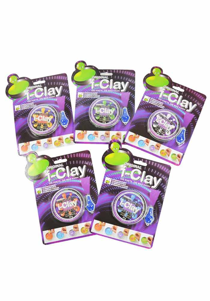 Original i-Clay Knete - uv sensitiv - sortiert