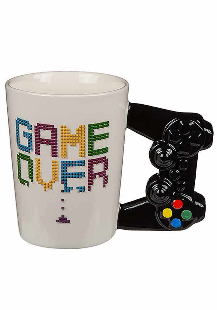 Game over Becher mit Controller-Griff