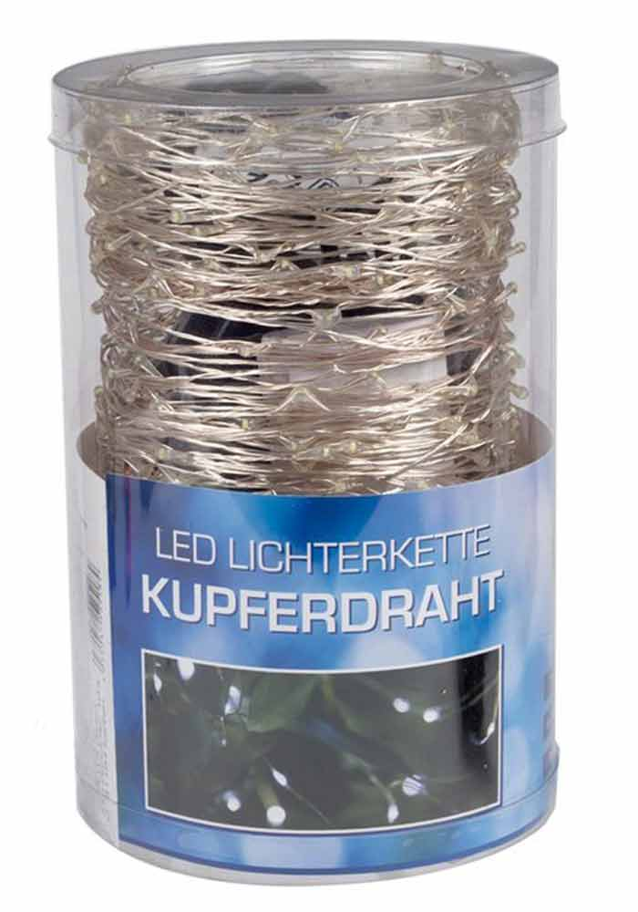 LED Lichterkette Kupferdraht