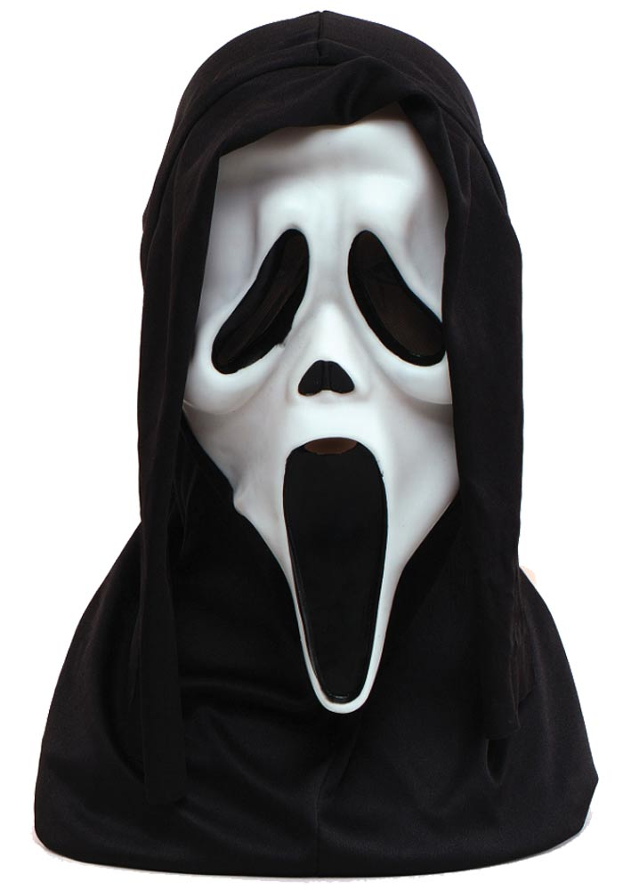 Original Scream Maske mit Kapuze
