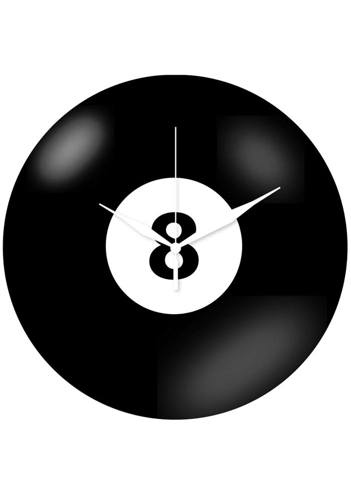 Wanduhr - Eight-Ball