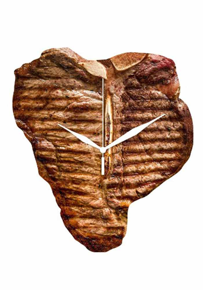 Wanduhr - Steak