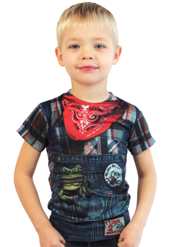 Faux Real - Boys Hillbilly T-shirt-L