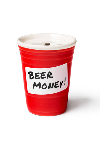 Spardose roter Becher - Red Cup Beer Money Bank